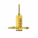 Designer Stainless Steel Golden Finish Wooden Pillar