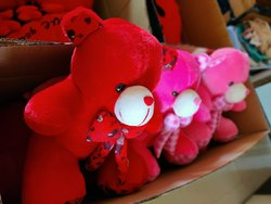 Fiber Red Teddy Bears, 250 Grams