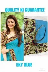 Pramukh Party Wear Chanderi Silk Saree, 6.3 m (with blouse piece), Packaging Type: Polly Bag