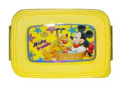 Kotak Sales Pet Puja Fun Food Cartoon Print Lunchbox 1 Compartment with 2in1 Spoon Fork & Container