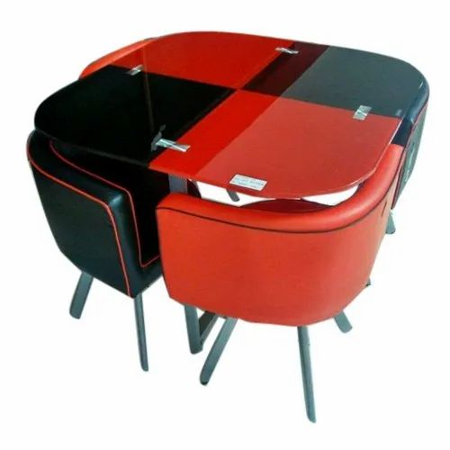 Red And Black Myinspace Dining Table Set Rs 9800 Set Myinspace Projects Id 20732581133