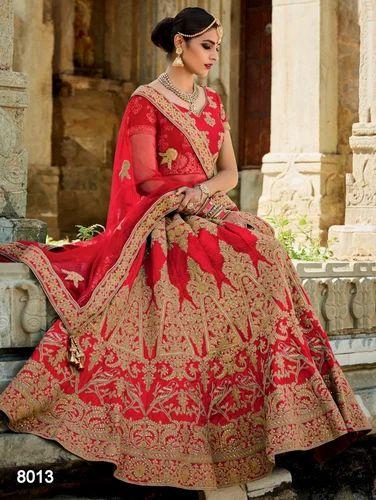 ae773585e3 Bridal Lehenga - Designer Red Bridal Lehenga Manufacturer from Surat