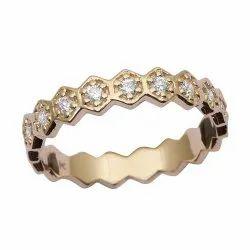 Eternity Style 9k Fine Gold Diamond Gemstone Women Engagement Ring