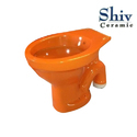 Ceramic Orange Water Closet
