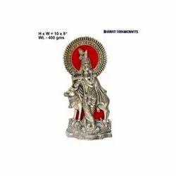 White Metal Krishna Statue