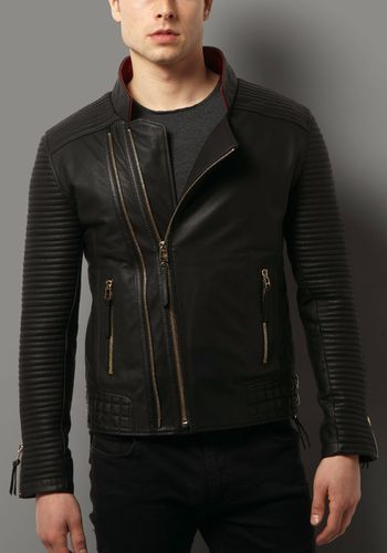 25a788070ab Men Leather Black Jacket, Arham Exports | ID: 19193214691