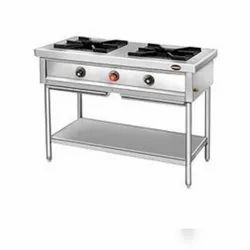 Two Burner Gas Stove, Size: 4 X 2 X 34feet