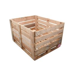 Rectangular Pine wood Open Wooden Pallet Box