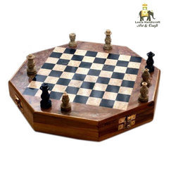 Soap Stone Octagonal Chess Board