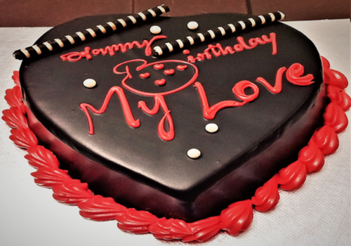 Chocolate Heart Red Cake At Rs 890 Piece Chocolate Cake Id
