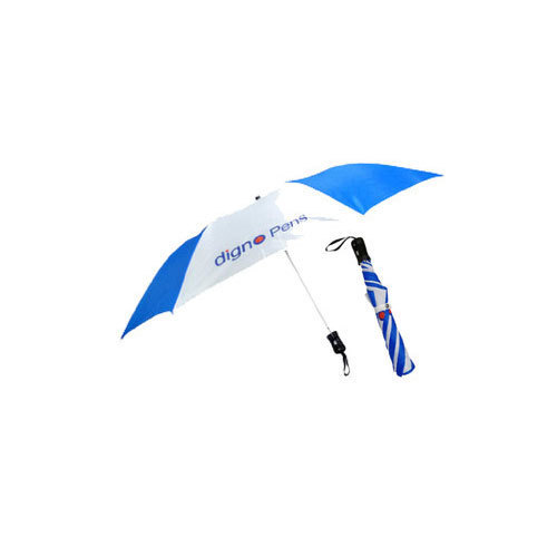 12ae4a10d7f22 Blue And White Polyester Promotional Umbrella | ID: 19419163062