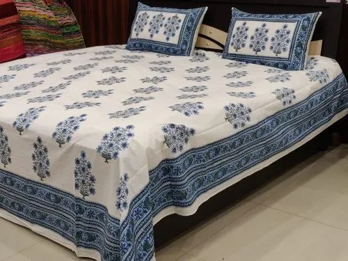 Hotel Hand Printed Bedsheet