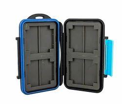 JJC 4x CF and 8x SD Memory Card Case Holder Blue