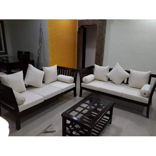 Brown Modern Wooden Sofa Chair Set Rs