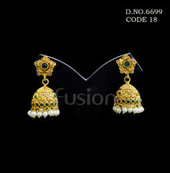 Traditional Antique Polki Earrings