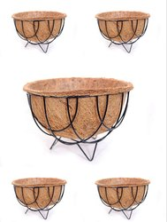 Coir Garden Gardening Flower Pots with Coir Floor Basket And Liner - 12 Inch