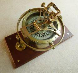 Brass Gimbaled Ships Compass