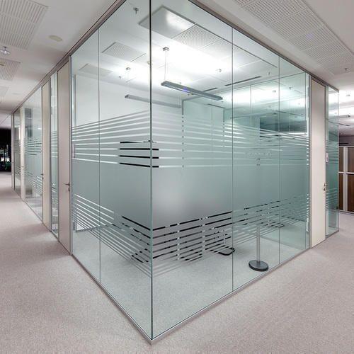 Transparent Modern Glass Office Partition