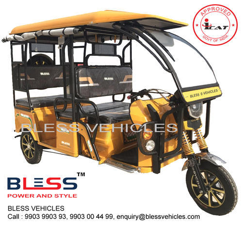 BLESS ICAT Approved Electric Rickshaw Toto Battery Rickshaw
