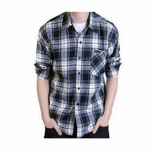 b60d8523 Men's Cotton Check Casual Wear Shirt, Rs 300 /piece, Blueberry ...