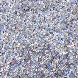 Eshoppee 1kg 4mm Silver Rainbow Color Round Shade Sequins Sitara