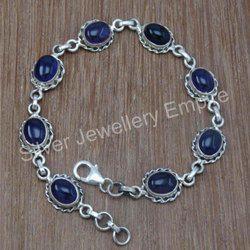 Amethyst Gemstone 925 Sterling Silver Bracelet