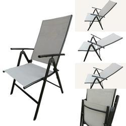 Folding Reclining Chair-7 Stage-Elegent-2 Fold-Beige