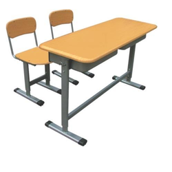 School Classroom Double Seater Adjustable Wooden Desk And ...
