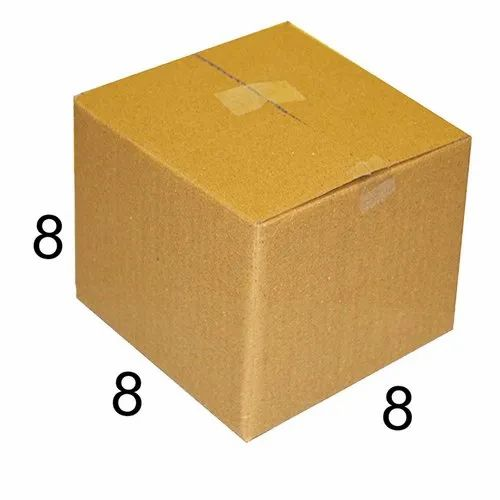 Rectangle 8 x 8 x 8 inch Packaging Corrugated Box