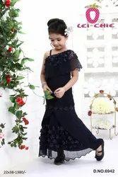 Formal Wear Kids Dress Gown, 22-38, Age: 3-12yr