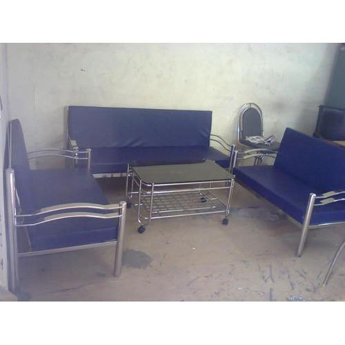 5 Seater Stainless Steel Sofa Set With Table At Rs 20000 Set Vishwakarma Industrial Area Jaipur Id 20194033830