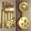 BRASS DIVERTER 3 INLET BODY