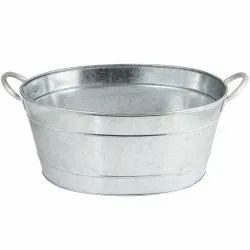 Galvanized Steel Plain Beverage Party Tub