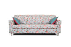 Adorn India Roselyn 3 Seater Sofa Digitel Print (Blue)
