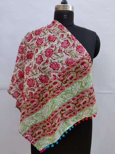 Hand Block Printed Beautiful Scarf