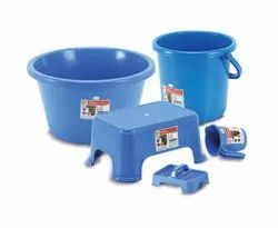 1002 Plastic Bath Set  ( 5 Pcs )
