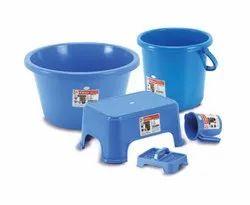 1002 Plastic Bath Set ( 5 Pcs )
