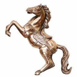 Brass Horse Statue for Interior Decor