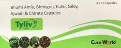 Tyliv Bhumi Amla Bhringraj Kutki Giloy Ajwain and Chirata Capsules, Treatment: Liver Diseases, Packaging Type: Box