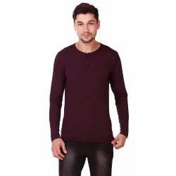 Men's Henley Full Sleeve T-Shirt