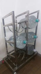 Water Can Storage Trolley