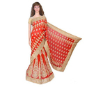 Chanderi Embroidered Fancy Semi-stitched Bridal Lehenga