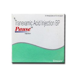 Tranexamic Acid Injection BP, Pause, Packaging Size: 5 Ampoules Of 5 mL Each