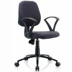 Polyester Low Back Staff Chair, For Offices, Black