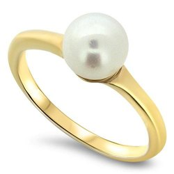 Natural Pearl Stone Ring (Moti)