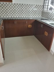 brown pvc kitchen cabinet