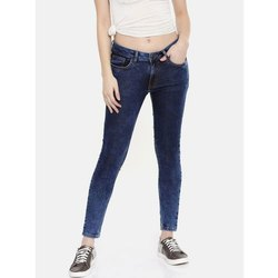 Slim Ladies Blue Denim Jeans, Waist Size: 28 to 36