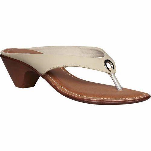 3d62b14ef4b8 Ladies Low Heel Leather Slippers at Rs 500  pair
