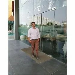 Ispter Glass Partitshan Designer Window Glass, Thickness: 12mm