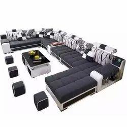 Teak Wood (Frame) Modern U Shape Sofa Set